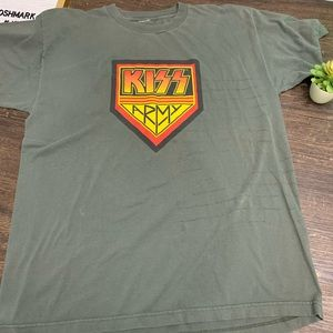 Vintage 1990s KISS ARMY Green Band T-shirt Size XL